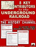 Underground Railroad: 8 Key Contributors: Webquest