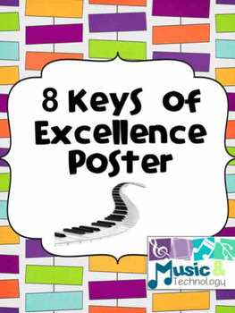 "8 ""Keys"" of Excellence Poster (Quantum Learning)"