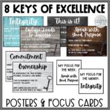 8 Keys of Excellence Posters   Farmhouse Classroom Decor