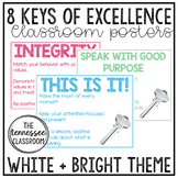 8 Keys of Excellence Posters {White+Bright}