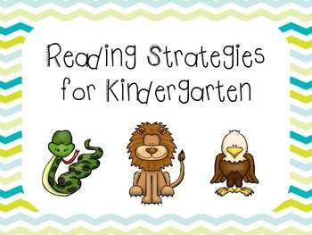 8 Kindergarten Reading Strategies Posters and Title Poster
