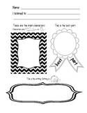 8 Listening Center Response Sheets to Target Common Core T