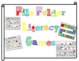 8 Literacy Center Games (File Folder Games)