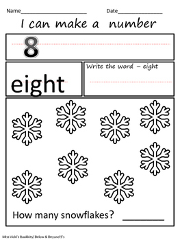 8 Little Snowman and Snowflake Math Activities