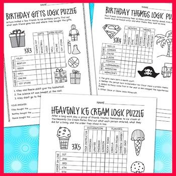 Logic Puzzles: Set 1 Various Levels