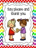 8 Manners Posters for your Classroom. Pre-K-5th Grade.