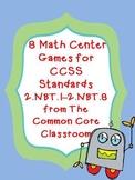 8 Math Center Games for CCSS Standards 2.NBT.1-2.NBT.8 - BUNDLE!!