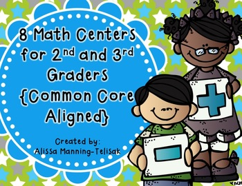 8 Math Centers for 2nd and 3rd Grade {Common Core Aligned}