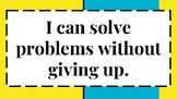 """8 Math """"I Can"""" Statements for Bulletin Board / Visual in C"""