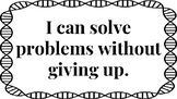 """8 Math """"I Can"""" Statements for Bulletin Board or Classroom Visual"""