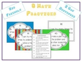 8 Math Practices Common Core - Kid Friendly I Can Sentences Color/Black & White