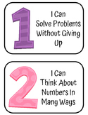 8 Math Practices Posters Mathematician Color and Black and White
