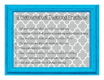 8 Math TEACHING Practices