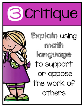8 Mathematical Practice Standards Posters