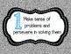 8 Mathematical Practices Black, Aqua and Silver Glitter (C