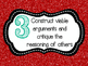 8 Mathematical Practices--Christmas colors! (Common Core)
