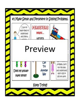 8 Mathematical Practices Centers TableTent Poster TaskCard AnswerSheet WorkMat