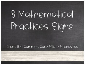 8 Mathematical Practices - Farmhouse Style Posters Signs