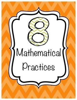 8 Mathematical Practices Posters Chevron