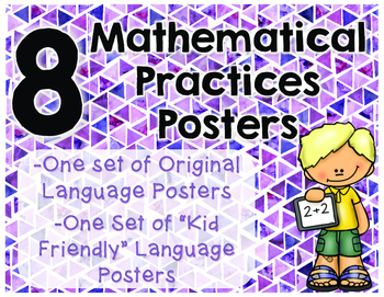 8 Mathematical Practices Posters (Common Core)