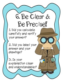 8 Mathematical Practices Posters - Student Friendly