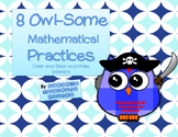 8 Owl Mathematical Mindset Practices --Posters and Exit Slips for Reflection