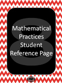 8 Mathematical Practices Student Reference Page