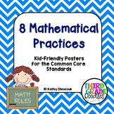 8 Mathematical Practices for the Common Core - Kid-Friendly Posters