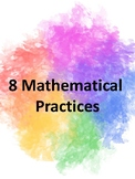 8 Mathematical Practices Posters - watercolor theme
