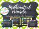 8 Mathematical Principles/ Practice Chalkboard & Chevron w