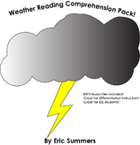 8 Middle School Weather Reading Passages for reading comprehension with Audio