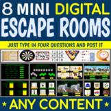 8 Mini ESCAPE ROOMS - Digital Breakouts for Any Content  