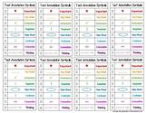 """8 Mini Text Annotation Symbols Checklist Chart (2.5""""x4"""" Ea"""