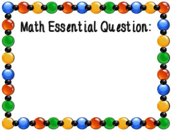 8 Multicolor Essential Question Posters
