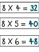 8 Multiples Times Table
