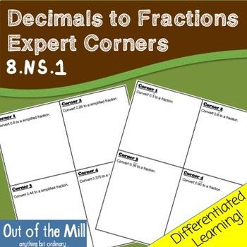 8.NS.1 Decimals to Fractions: Expert Corners