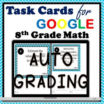 8.NS.2 Digital Task Cards, Estimating Irrational Numbers Google Task Cards