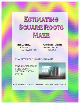 8.NS.2 - Estimating Square Roots Maze