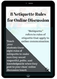 8 Netiquette Rules for Online Discussion Poster