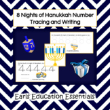 8 Nights of Hanukkah Number Tracing