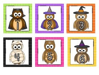 8 Owl-O-Ween Math Station Activities