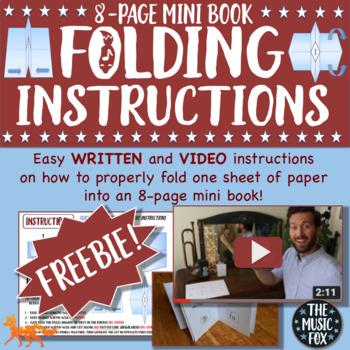 8-PAGE FOLDABLE MINI BOOK INSTRUCTIONS - FREEBIE!