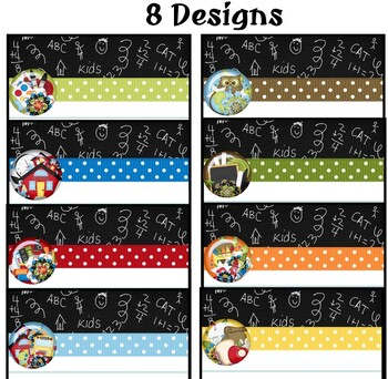 Ribbons and Flowers Notepad Sheets Set {Editable}
