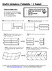 8 Panel Foldable Graphic Organizer - Horizontal Layout