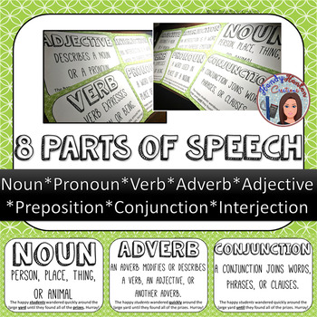 8 Parts of Speech Classroom Posters