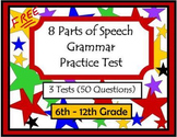 8 Parts of Speech Grammar Practice Test