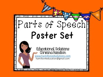 8 Parts of Speech Poster Set