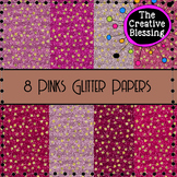 8 Pinks Glitter Digital Papers