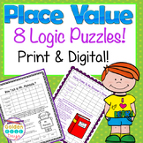 8 Place Value Logic Puzzles Print & Google Paperless!