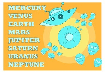 8 Planets of the Solar System POSTERS ( first set )